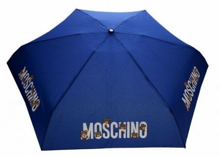 "Moschino Taschenschirm "" Bear logo"" Supermini, blau"