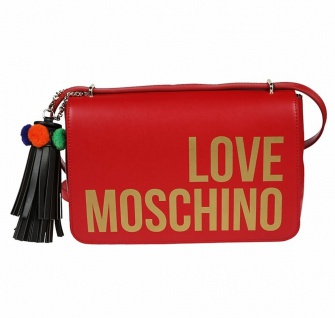 Love Moschino Borsa Grain Pu Rosso, Red - Vorschau 1