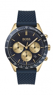 Hugo Boss Herren Uhr Talent Silikon blau, 1513600