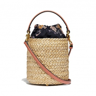 Coach Strohtasche / Bucket Bag, Braun 68539