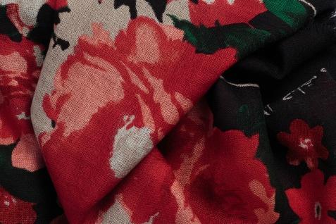 Mila schön concept Tuch mit Flower Print und Fransen - Vorschau 2