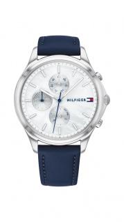 Tommy Hilfiger Damen Uhr Whitney- Casual Leder Blau, 1782119