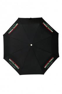 """Moschino Taschenschirm """" Tricolore"""" Mini Automatik, Black"""