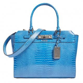 Guess Handtasche / Umhängetasche Raffie Kroko Royal Blau