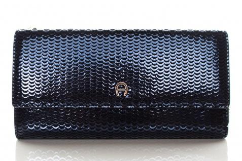 Aigner Fashion Geldbörse, Metallic Look, 156133 Deep Blue - Vorschau 1