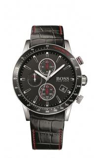 Hugo Boss Herren Uhr Rafale Leder schwarz, 1513390
