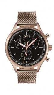 Hugo Boss Herren Uhr Companion Edelstahl carnation, 1513548
