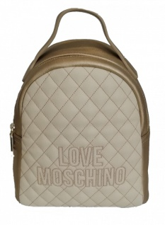 Love Moschino Rucksack, Metallic Gold / Beige