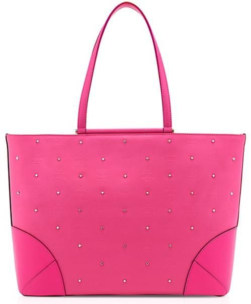 MCM Claudia Studs Shopper medium Pink - Vorschau 1