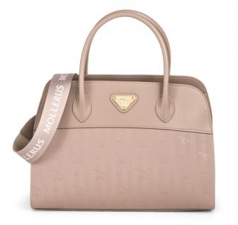Maison Mollerus Vinerus Rose Handtasche, Yvorne Gold