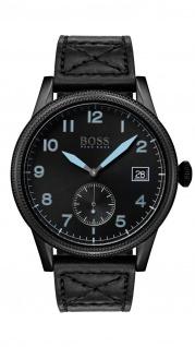 Hugo Boss Herren Uhr Legacy Leder schwarz, 1513672