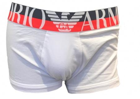 Emporio Armani Herren Boxershorts Trunk, Weiß 111389