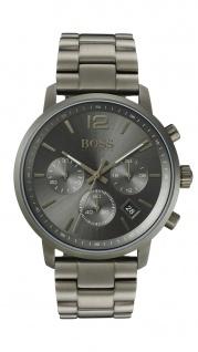 Hugo Boss Herren Uhr Attitude Leder braun, 1513610