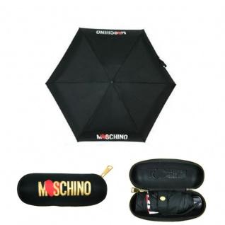 """Moschino Taschenschirm """" Heart Logo"""" Supermini Automatik, Schwarz"""