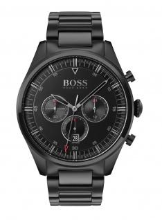 Hugo Boss Herren Uhr Pioneer Edelstahl Schwarz, 1513714