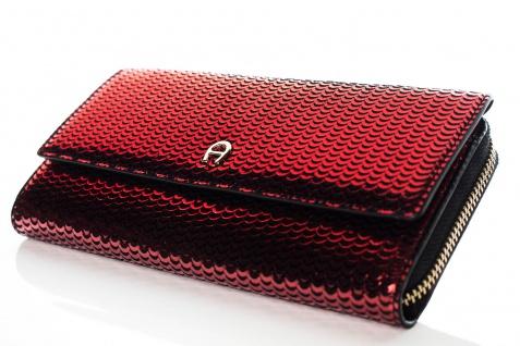 Aigner Fashion Geldbörse, Metallic Look, 156133 Brick Red - Vorschau 2