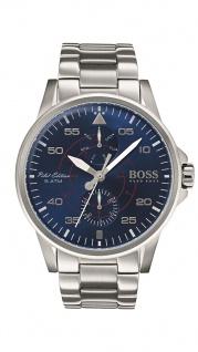 Hugo Boss Herren Uhr Aviator Edelstahl silber, 1513519