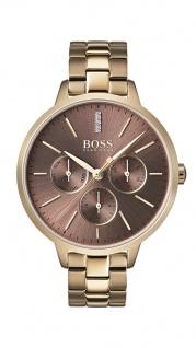 Hugo Boss Damen Uhr Symphony Edelstahl gold, 1502422
