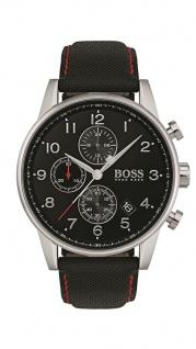 Hugo Boss Herren Uhr Navigator Leder schwarz, 1513535