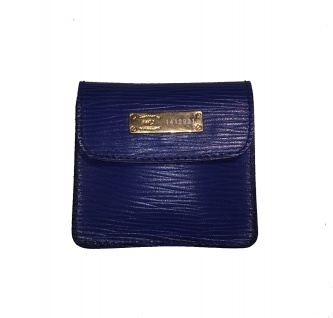 HCL Mini-Portemonnaie/ Tampon-Etui, Leder Blau