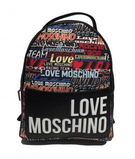 Love Moschino Rucksack Digital Print, Schwarz / Multicolor