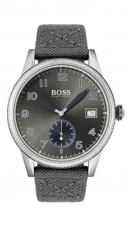Hugo Boss Herren Uhr Legacy Natoarmband grau, 1513683