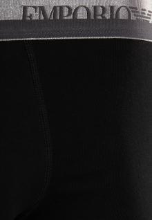 Emporio Armani, Stretch Cotton Trunk schwarz / silber-grau-S - Vorschau 3