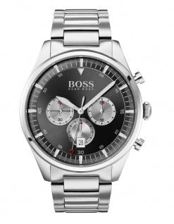 Hugo Boss Herren Uhr Pioneer Edelstahl Silber, 1513712