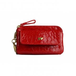 Braun Büffel Schlüsseletui Verona Glanzkroko Rot, 40002