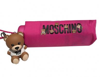 """Moschino Taschenschirm """" Bear logo"""" Supermini, pink"""