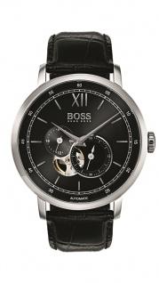Hugo Boss Herren Uhr Signature Timepiece Leder schwarz, 1513504