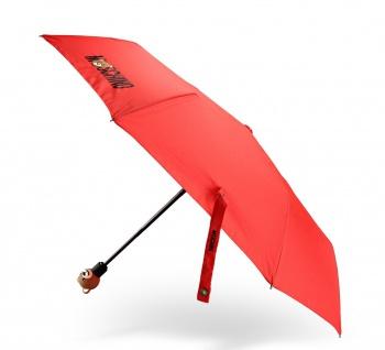 Moschino Taschenschirm Teddy Logo, rot