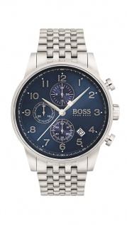 Hugo Boss Herren Uhr Navigator Edelstahl silber, 1513498