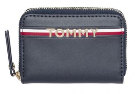 Tommy Hilfiger Portemonnaie CORP Leather Mini ZA, dunkelblau