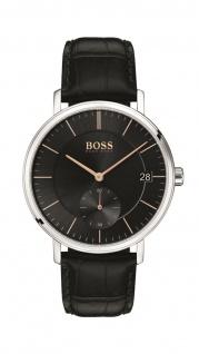Hugo Boss Herren Uhr Corporal Leder Schwarz, 1513638
