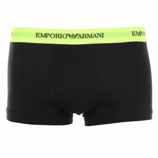 Emporio Armani Basic Stretch Cotton Trunk, schwarz/neongelb Gr. XL