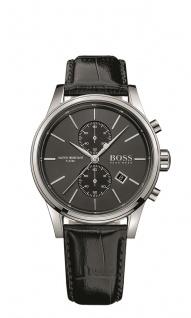 Hugo Boss Herren Uhr Jet Leder schwarz, 1513279