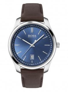 Hugo Boss Herren Uhr Circuit Leder Braun, 1513728