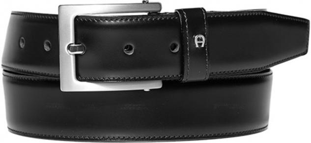 Aigner Gürtel Basic mit S-Schließe silber 126089, schwarz