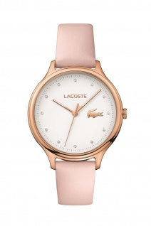 Lacoste Damen Uhr Constance Leder Rosé, 2001087