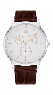Tommy Hilfiger Herren Uhr Brad - Dressed Up Leder Braun, 1710389