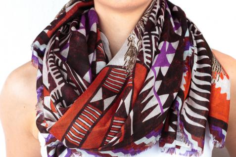 Loup Noir Tuch Natives, purple/red - Vorschau 1