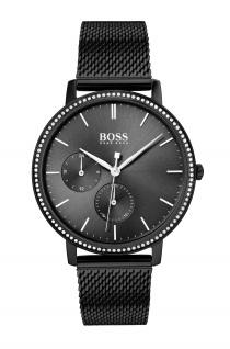 Hugo Boss Damen Uhr Infinity Edelstahl Schwarz, 1502521