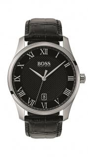 Hugo Boss Herren Uhr Master Leder schwarz, 1513585