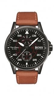Hugo Boss Herren Uhr Aviator Leder braun, 1513517