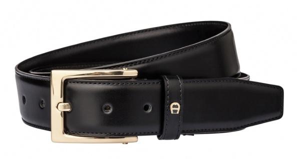 Aigner Gürtel Basic mit S-Schließe gold 126445, schwarz