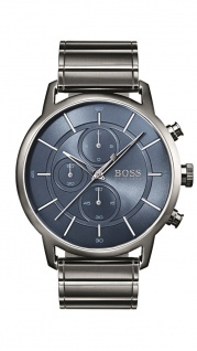 Hugo Boss Herren Uhr Architectural Edelstahl grau, 1513574