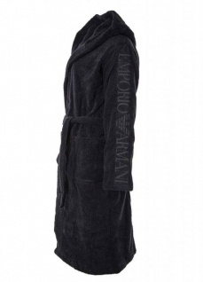 Emporio Armani Bademantel mit Kapuze und Taschen 7A591, dunkelblau Größe L - Vorschau 2