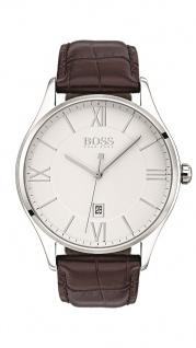 Hugo Boss Herren Uhr Governor Leder braun, 1513555