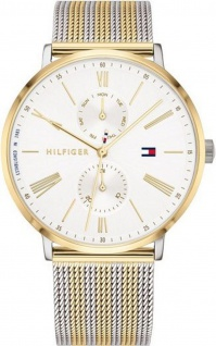 Tommy Hilfiger Damen Uhr Jenna- Casual Edelstahl Gold/Silber, 1782074